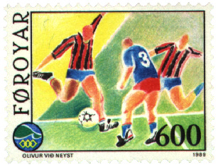 Faroe stamp 182 football